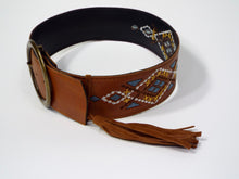 Western Embroidered Chestnut Belt