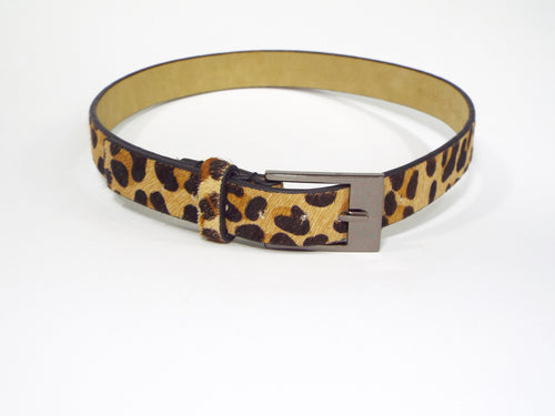 Faux Leopard Spotted Belt