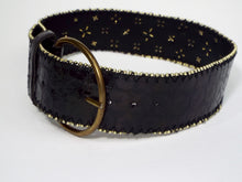 Black Belt with Gold Bead Edge