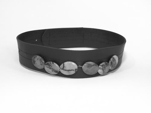 Black Band with Gray Stones