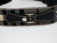 Burberry-Look Band with Black Strap Accent