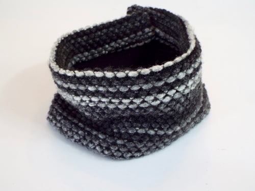Shades of Gray Thick Knit Cuff
