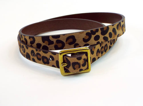 Double Belt w/Cheetah Print