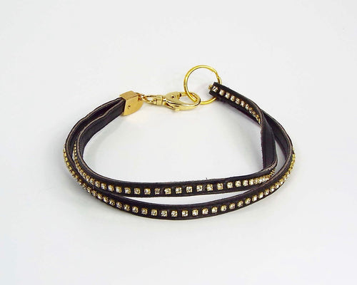 Double Thin Band of Black & Gold