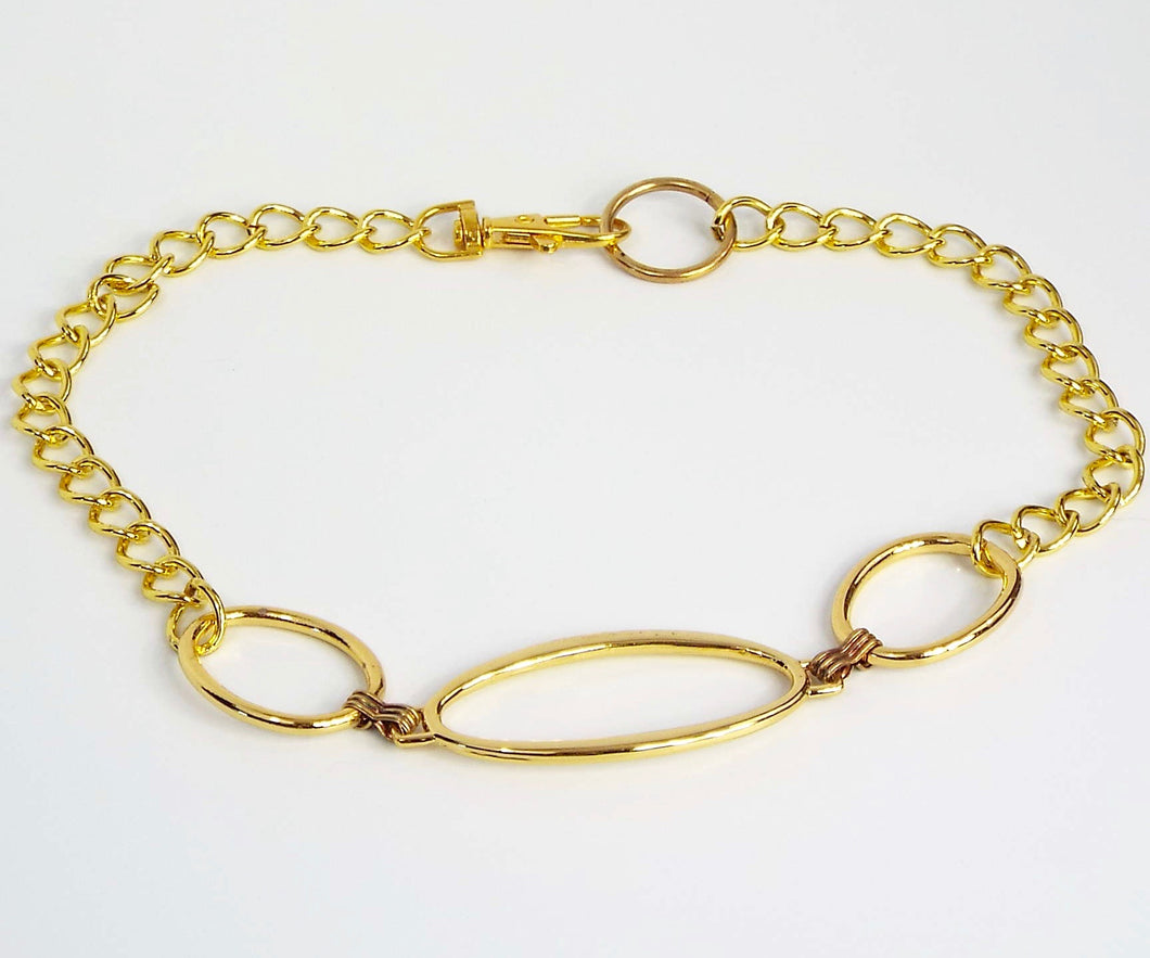 Bright Gold Large Oval Chain Band