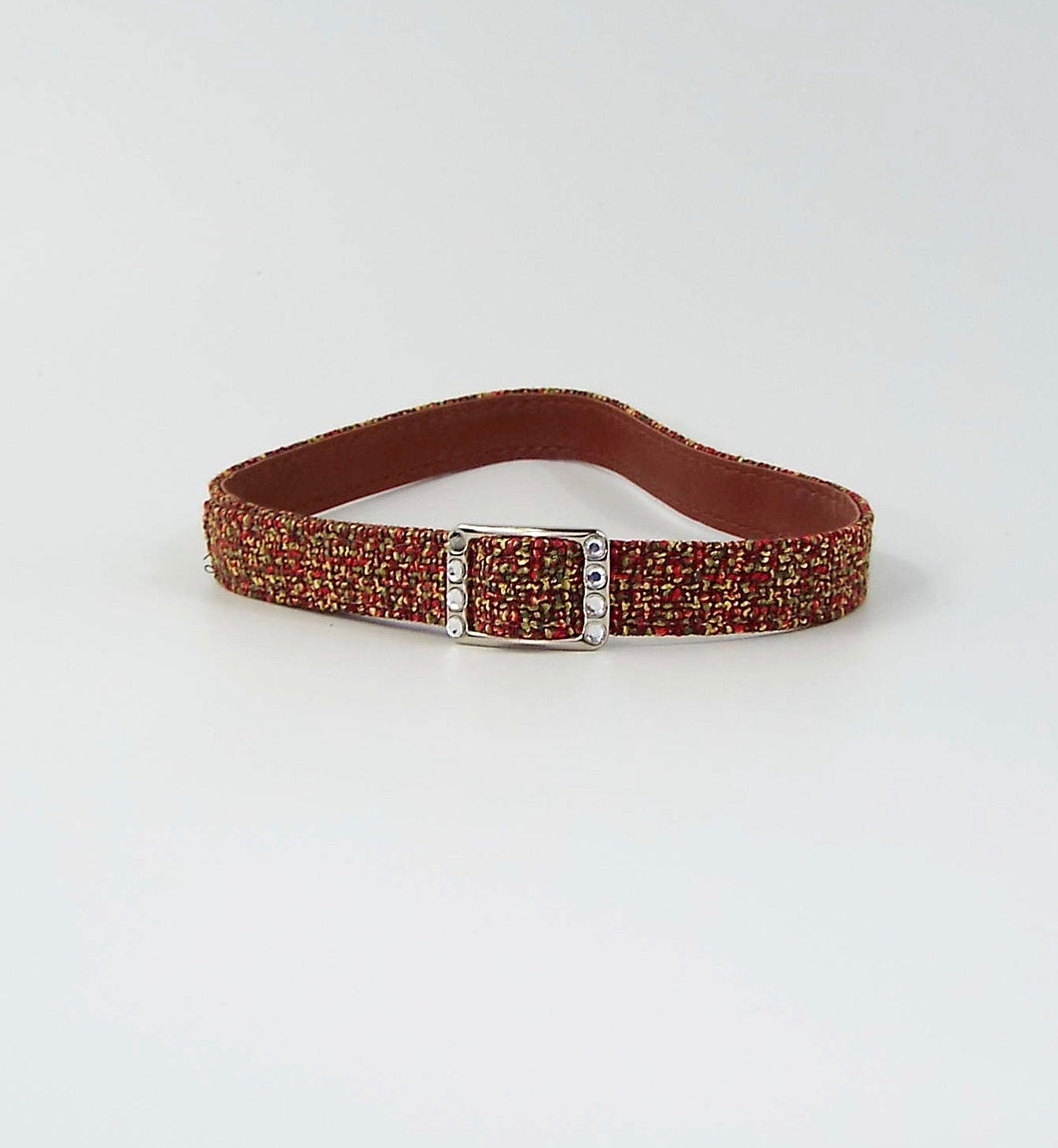 Autumn Colored Fabric Upcycled Belt