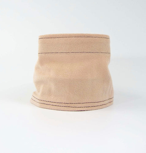 Pale Blush Soft Suede Cuff