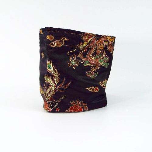 Black Chinese Dragon Silk Cuff