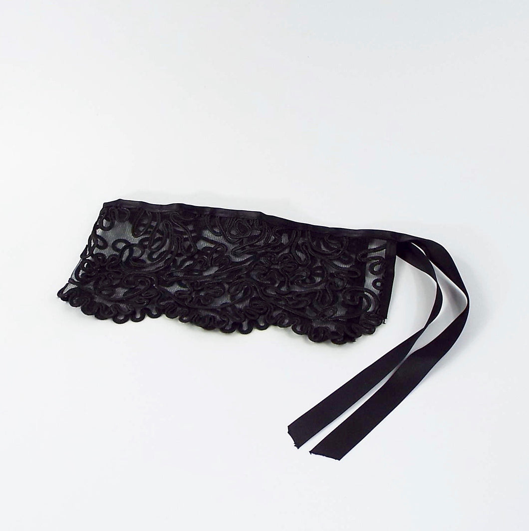 Black Lace Single Tie-on Cuff