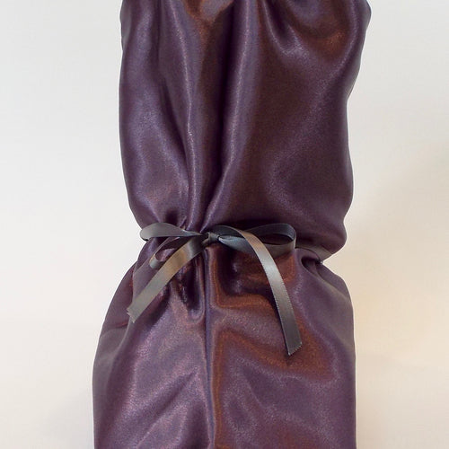 Plum Satin Nightie Boot Cover