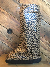 Panthera pull on boot cover for medical boots and aircasts in fun leopard print