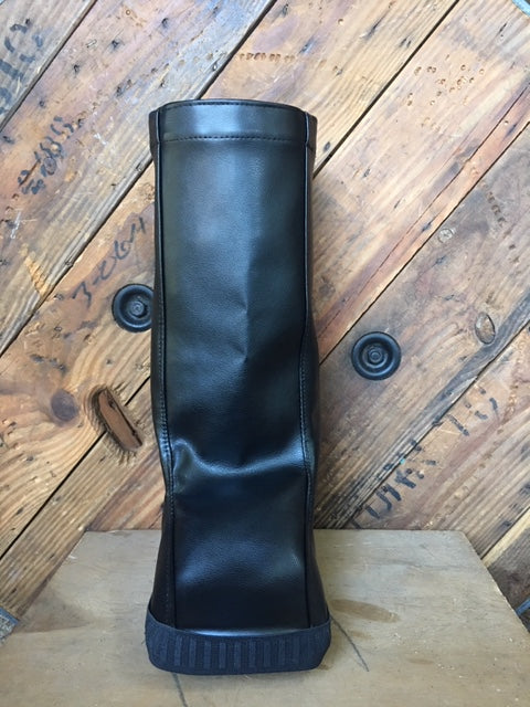 Basic Black medical boot cover for air casts, walking casts following ankle injury or ankle surgery. Rain and cold weather protection.