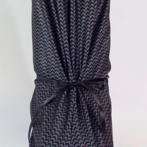 Black and Gray Chevron Microfiber Pajama Boot Cover
