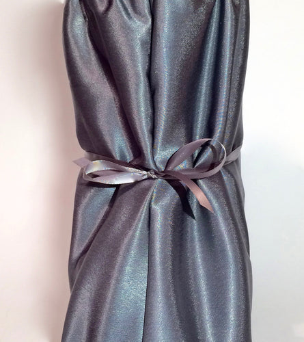 Dusky Gray Satin Nightie Boot Cover