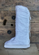 Cover for medical walking boot, aircast, walking cast in beautiful white for the bride or for special event
