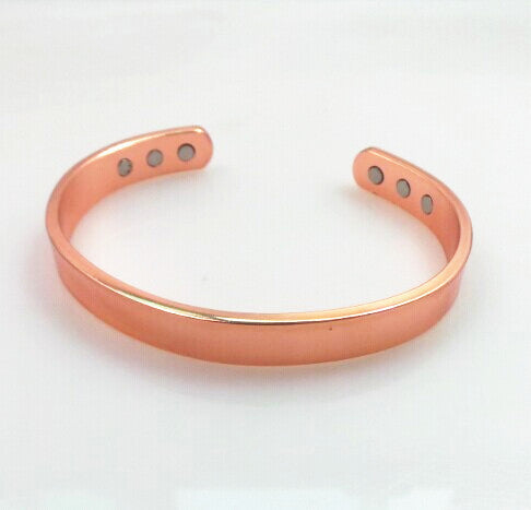 Solid copper bangle bracelet for men and women