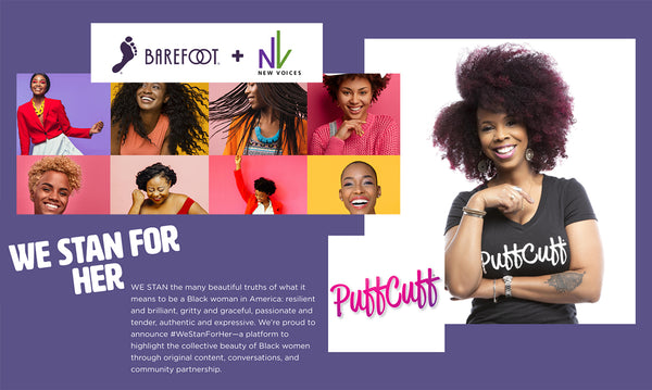 PuffCuff Awarded #WeStanForher BareFoot Beauty Grant