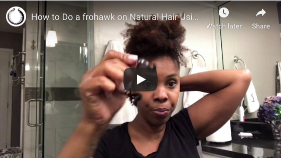 How To Do a Fro-Hawk on Natural Hair Using a PuffCuff MICRO