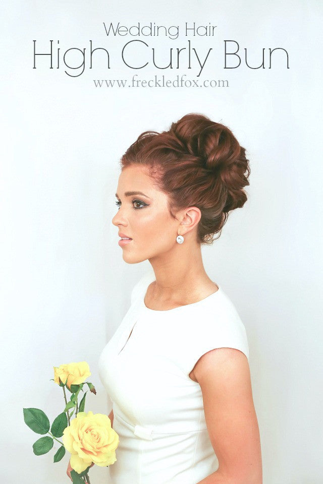 The Freckled Fox high bun bridal and prom hairstyle