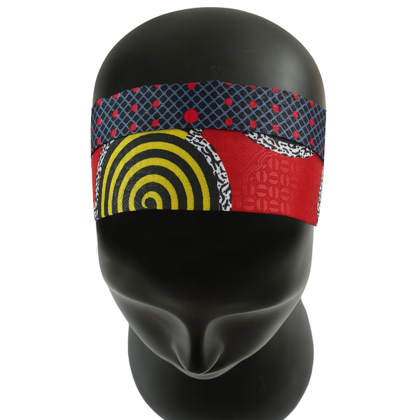 Red Tone Extra Wide Reversible Handmade Headband — 1 pc = 4 Different LOOKS!