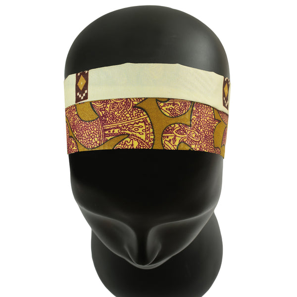 Gold Tone Extra Wide Reversible Handmade Headband — 1 pc = 4 Different LOOKS!