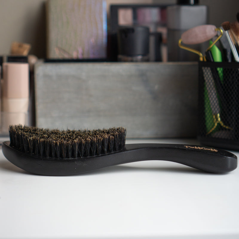 PUFFCUFF 100% Boar Soft Smoothing Brush