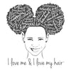 I LOVE ME & I LOVE MY HAIR Little Girl's Short Sleeve T-shirt