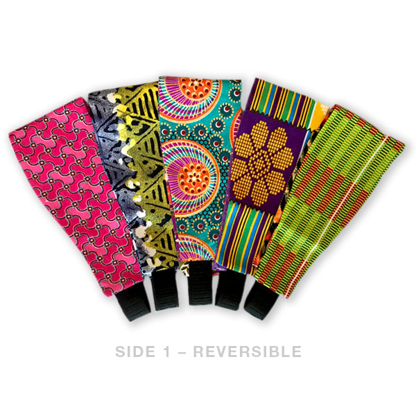 Set of 5 -Extra Wide Reversible Handmade Headbands = 15 Different LOOKS!