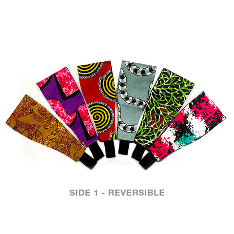 Version III Extra Wide Reversible Handmade Headband — Set of 6 = 18 Different LOOKS!