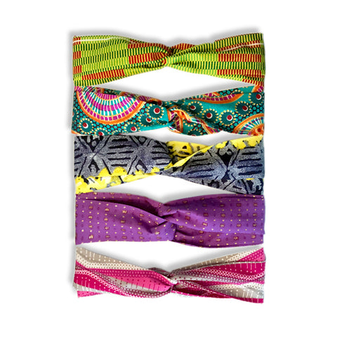 Set of 5 - Crisscrossed Handmade Headbands V2