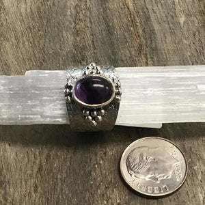 Amethyst Sterling Silver Rings (Sizes 6)