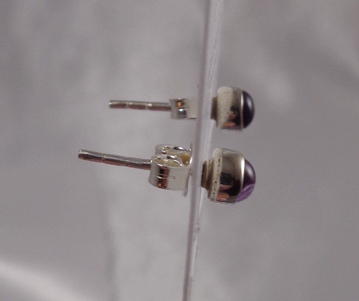 Amethyst Sterling Stud Earrings