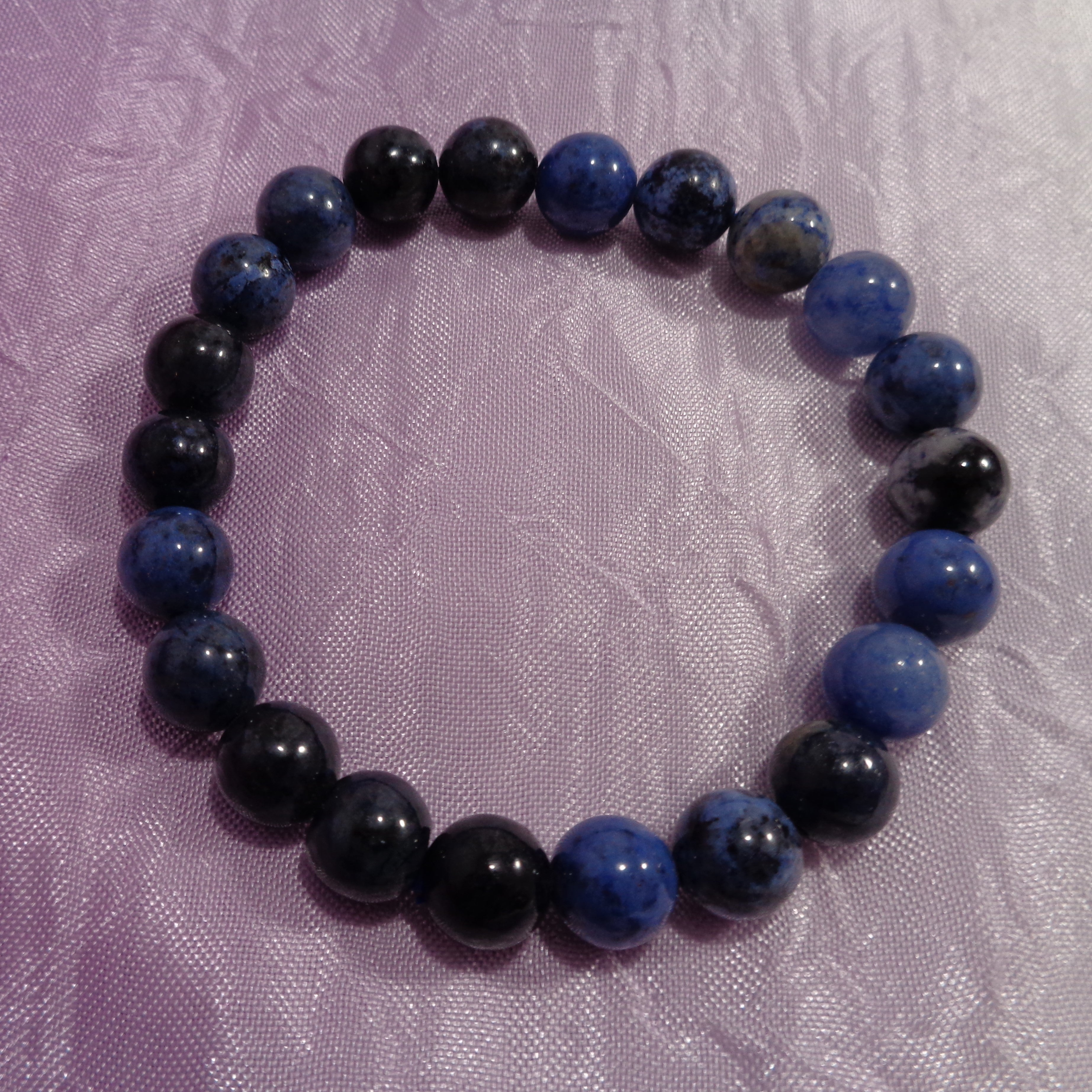 Dumortierite Bracelet, 8 mm beads