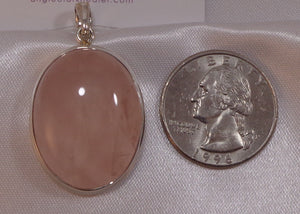 Rose Quartz Sterling Pendant 5