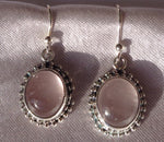Rose Quartz Sterling Wire Earrings