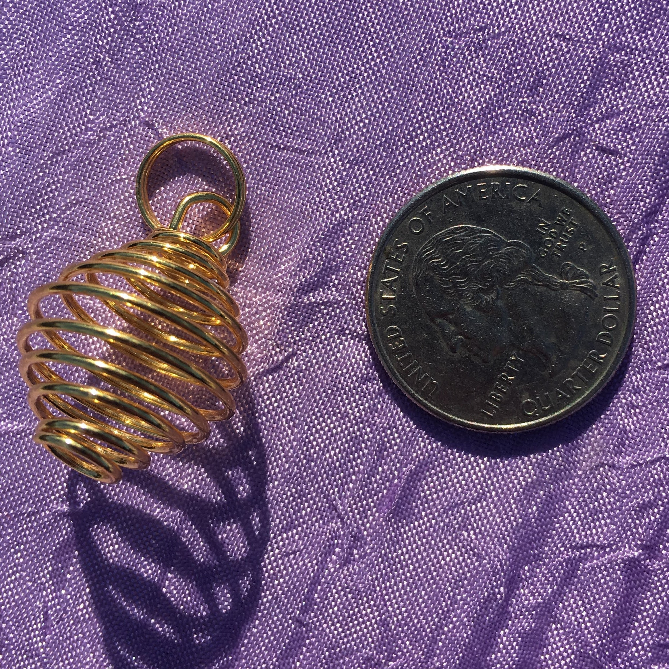 Golden Plated Crystal Cage Pendant