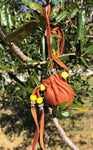 Yellow Bead Sacred Leather Bag