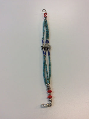 Turquoise Color Beaded Bracelet