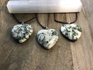 Heart Shape Stone Pendants