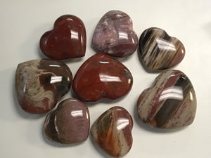 Petrified Wood Heart Shape Stone