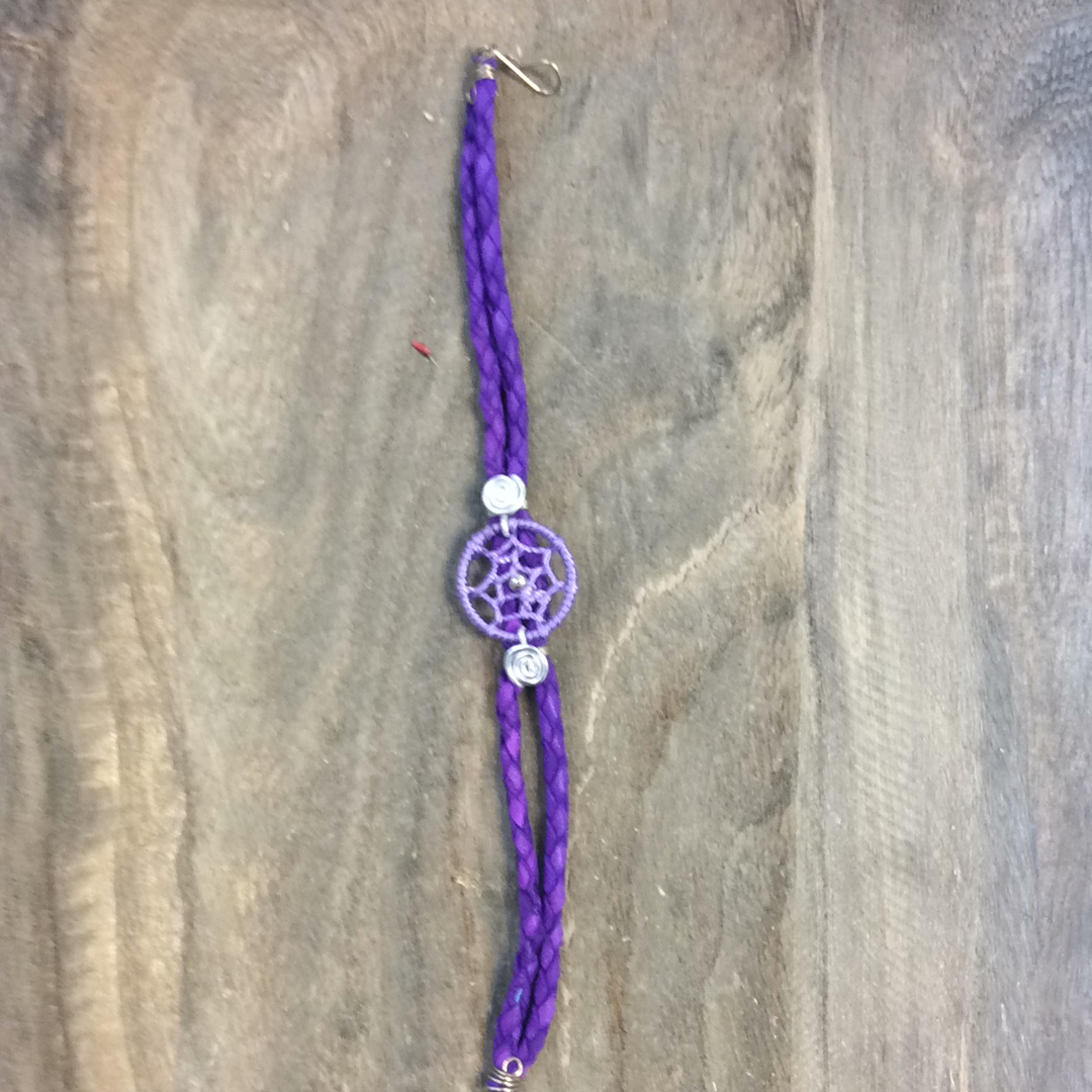 Suede dream catcher bracelets