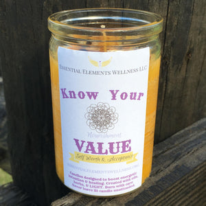 Know Your Value Candle