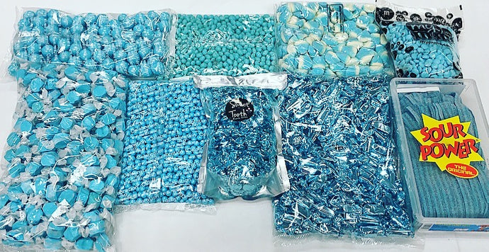 light blue candy package 19lbs sweet tooth candy buffets rh sweettoothcandyshop com light blue and silver candy buffet