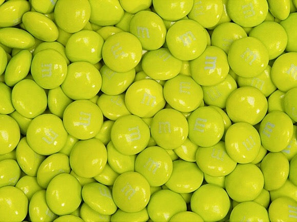 M&Ms Milk Chocolate Candy - Electric Green 2LB Bag