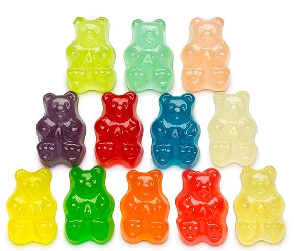 Assorted 12 Flavor Gummy Bears - 5LB