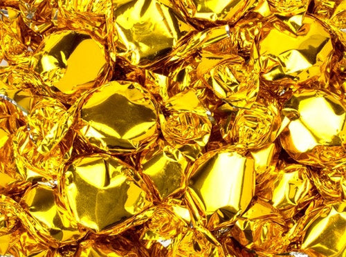 Metallic Foiled Hard Candy Button 2LB - Gold