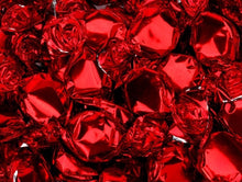Metallic Foiled Hard Candy Buttons 2LB - Red