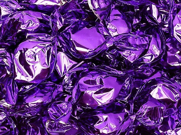 Metallic Foiled Hard Candy Buttons 2Lb - Purple