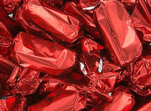 Metallic Foiled Caramels Red - 2LBs