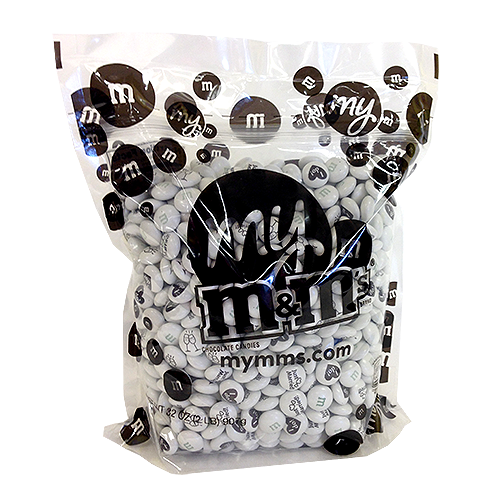 M&Ms Milk Chocolate Candy - Wedding Blend 2LB Bag